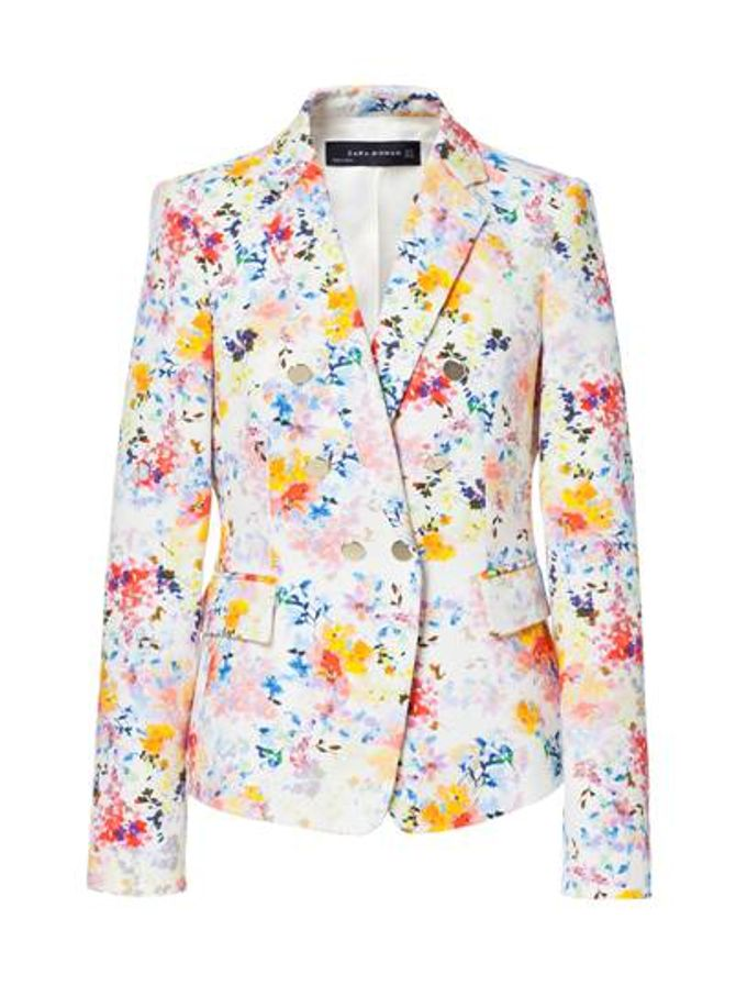 Veste à fleurs, Zara, 99,95 €