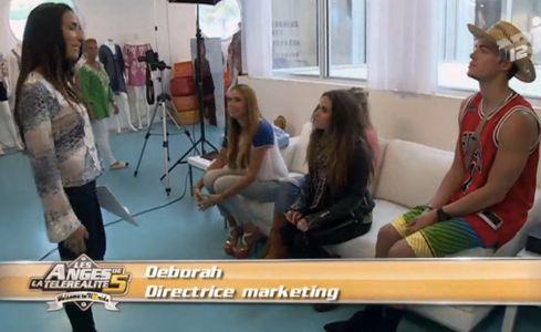 Aurélie, Capucine, Vanessa et Geoffrey avec la directrice de casting à Miami