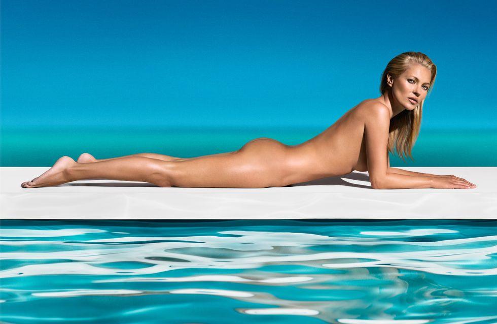 Kate Moss : Nue pour bronzer à Saint-Tropez (Photos)