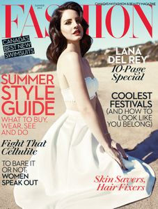 Lana Del Rey en couverture de Fashion magazine