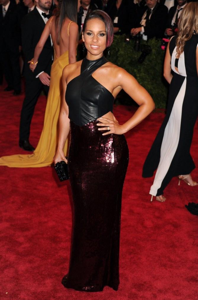 Alicia Keys lors du Met Ball 2013