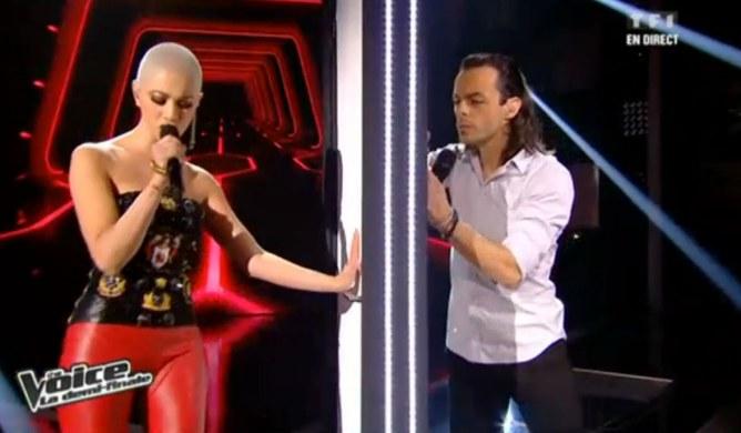 Diese et Nuno  lors de la demi-finale The Voice le 11 mai 2013