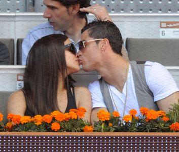 Irina Shayk et Cristiano Ronaldo lors d'un match de tennis