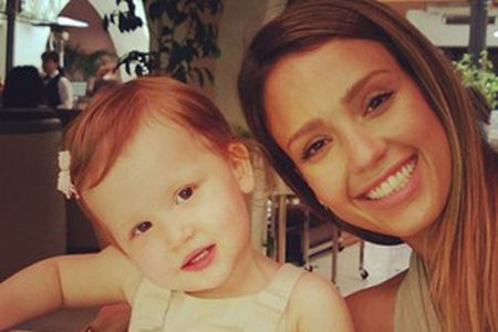 Jessica Alba with her daughter