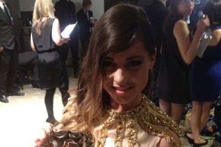 Louise at the Baftas