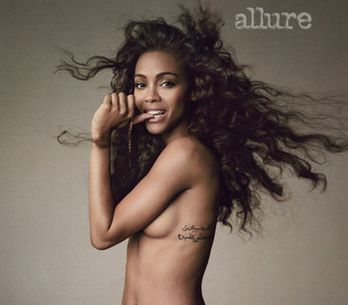 Zoe Saldana : Elle pose nue pour Allure magazine (Photos)