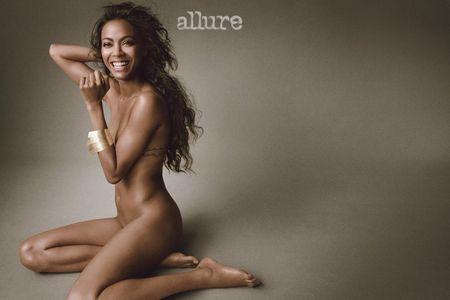 Zoe Saldana pour Allure Magazine
