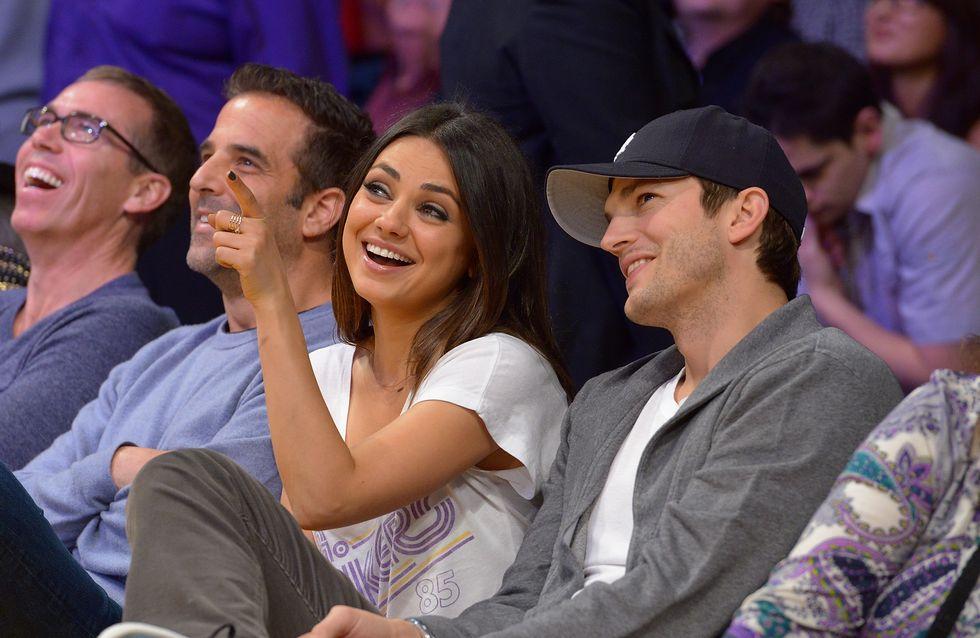 Ashton Kutcher et Mila Kunis : Amoureux et très gourmands