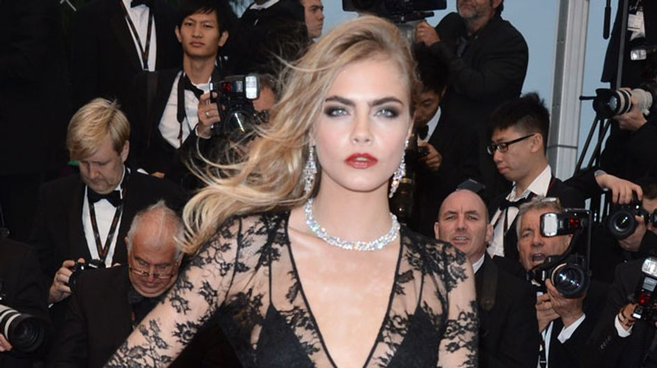 Cannes Film Festival 2013: Cara Delevingne suffers fake tan fail on rainy red carpet