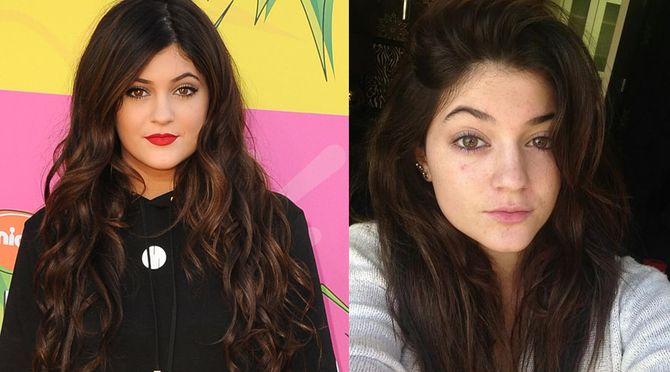 Kylie Jenner avec et sans maquillage