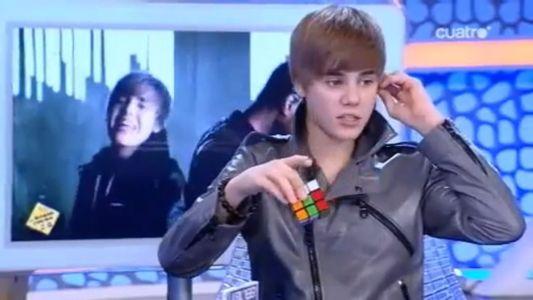 Justin Bieber, l'as du rubik's cube