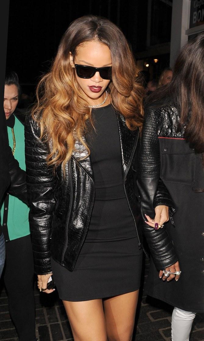 Rihanna en week-end à Londres