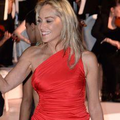 Festival de Cannes 2013 : Sharon Stone, flamboyante et sexy en rouge (Photos)