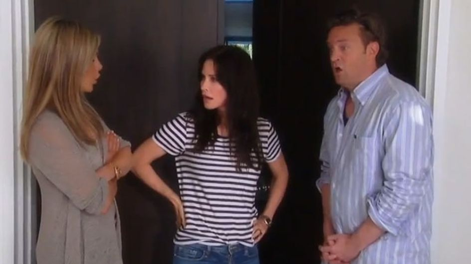 Friends Reunion: Jennifer Aniston, Matthew Perry and Courteney Cox in promo video
