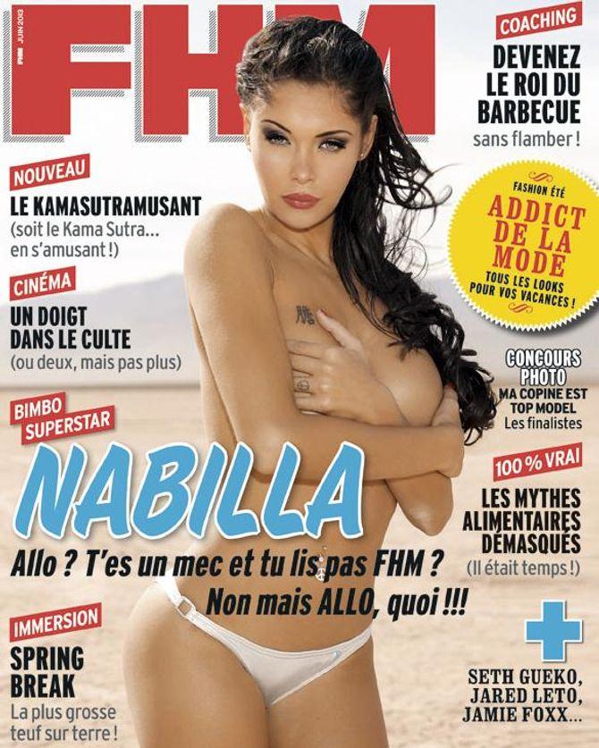 Nabilla pour FHM