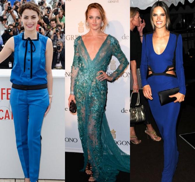 Festival de Cannes 2013 : Les looks en bleu  des stars (Photos)
