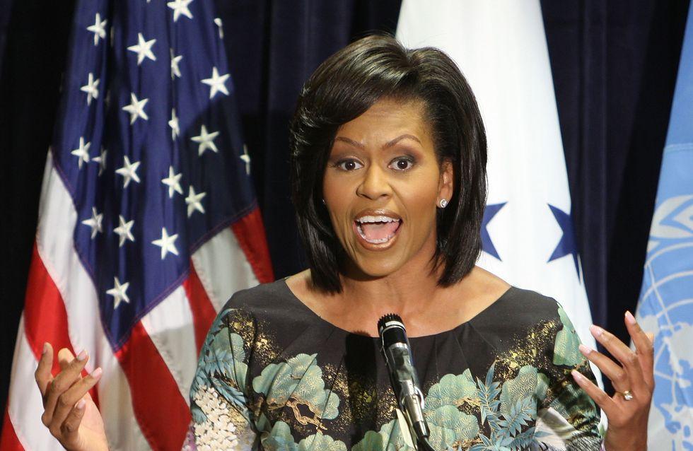 Michelle Obama : Elle reporte sept fois la même robe (Photos)