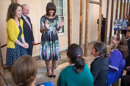 Michelle Obama hier en Virginie