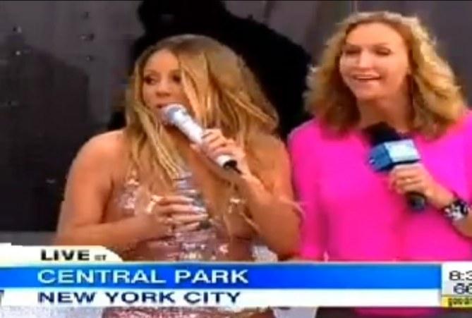 Mariah Carey sent sa robe craquer