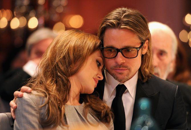 Angelina Jolie et Brad Pitt en 2012