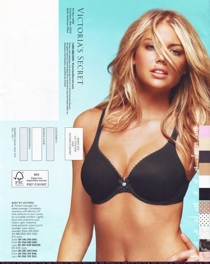 Kate Upton dans le catalogue de Victoria's Secret
