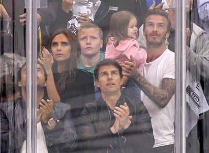 La famille Beckham en compagnie de Tom Cruise et de son fils Connor Cruise