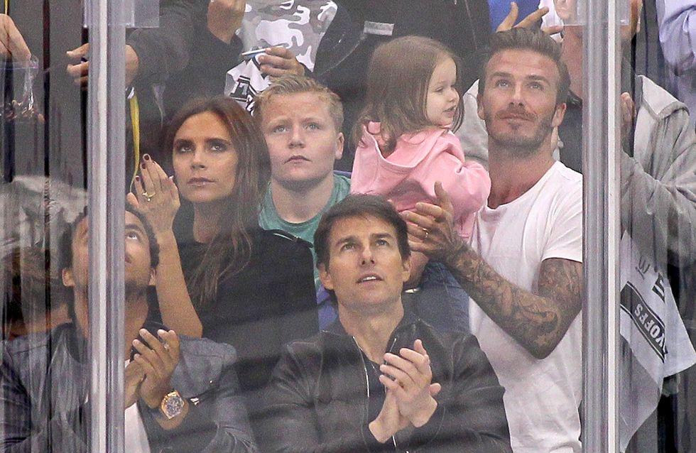 David Beckham et sa fille Harper : Attendrissants lors d'un match de hockey (Photos et Vidéo)