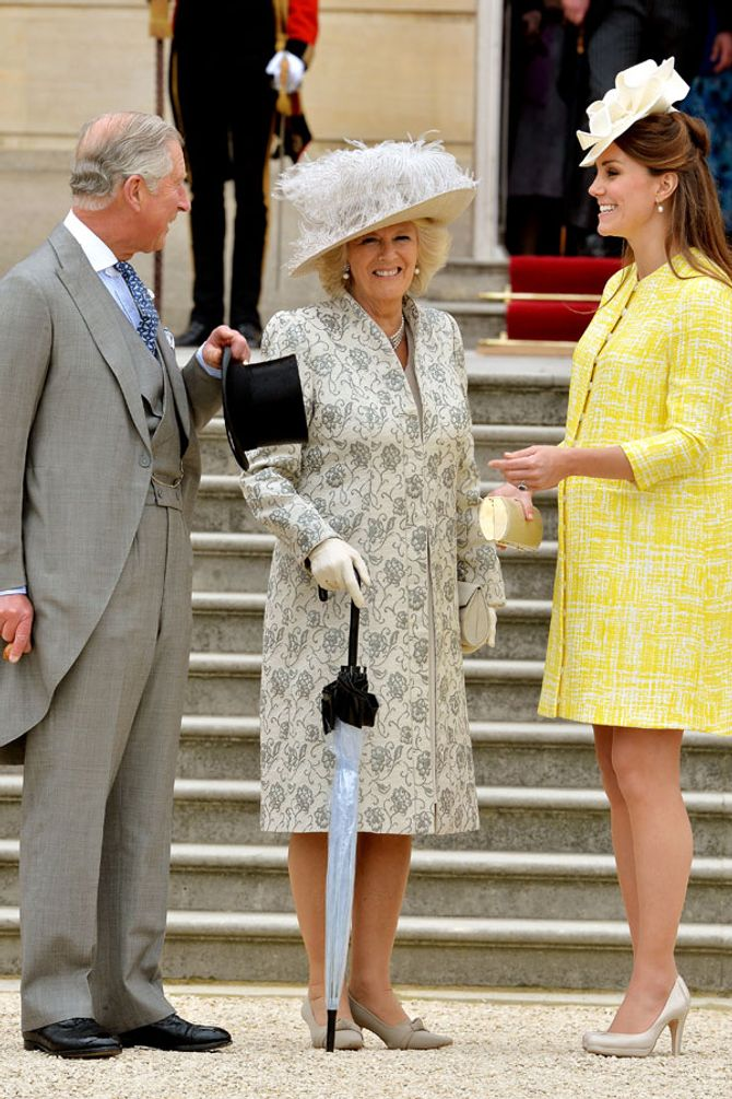 Kate Middleton with Charles and Camilla
