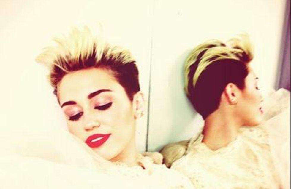 Miley Cyrus : Elle dévoile sa robe de mariée (Photo)