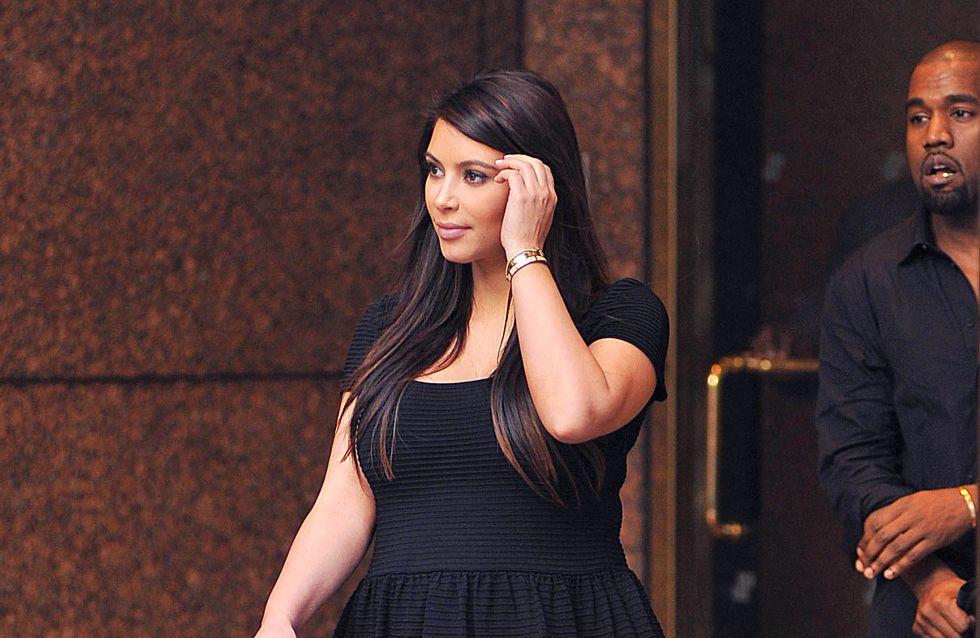 Kim Kardashian : Son bébé est un farceur