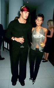 David et Victoria Beckham en 1999