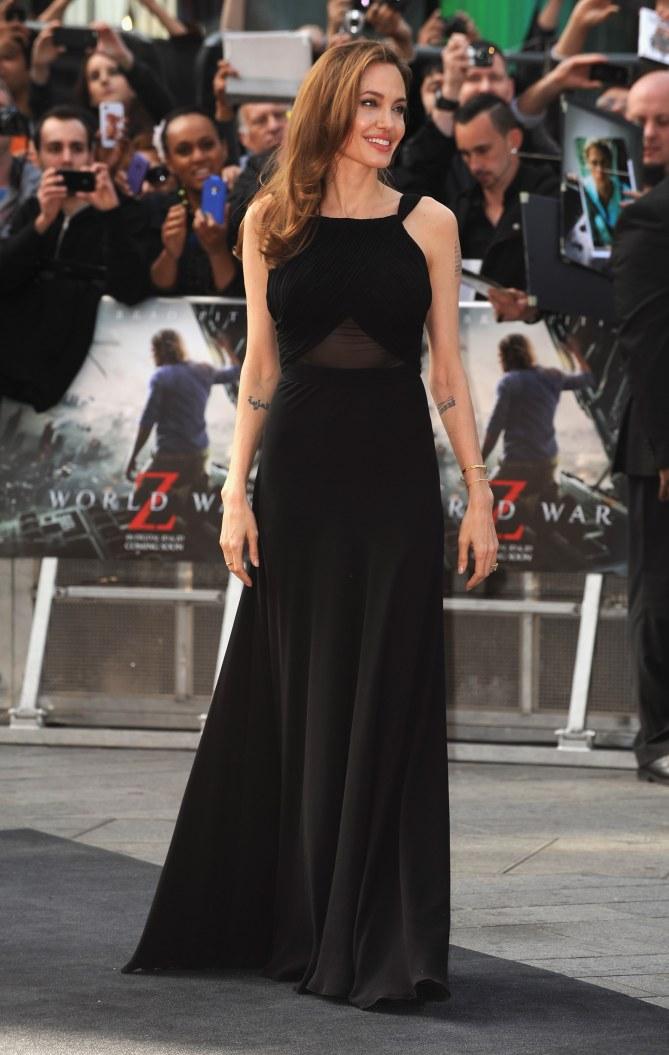 Angelina Jolie à la première de World War Z