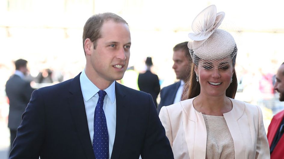 Pregnant Kate Middleton steps out with Prince William at Queen's Coronation service