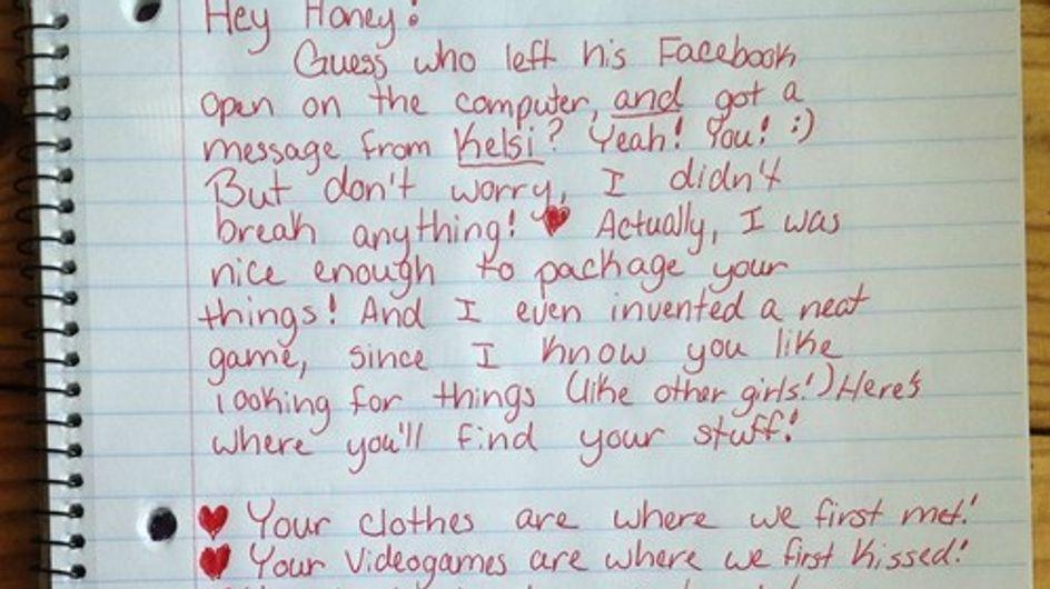 Trompée, elle écrit la lettre de rupture la plus drôle et décalée !