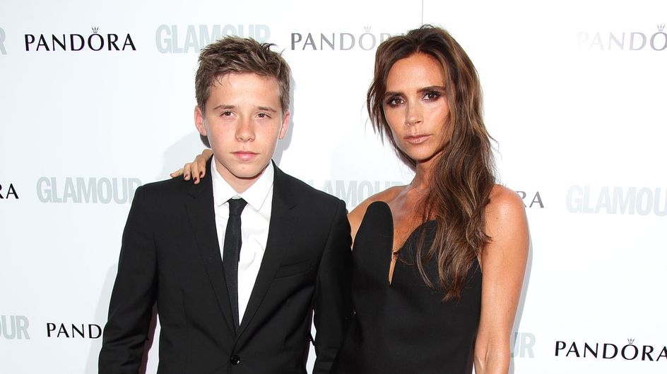 Victoria Beckham : Sublime au bras de son fils (Photos)