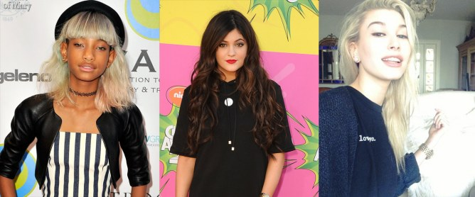 Willow Smith, Kylie Jenner et Hailey Baldwin