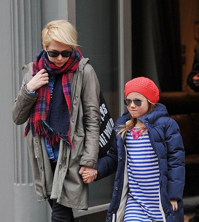 Michelle Williams et sa fille Mathilda