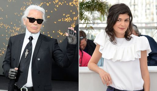 Karl Lagerfeld et Audrey Tautou