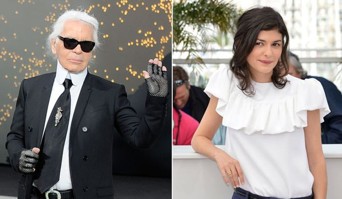 Karl Lagerfeld et Audrey Tautou