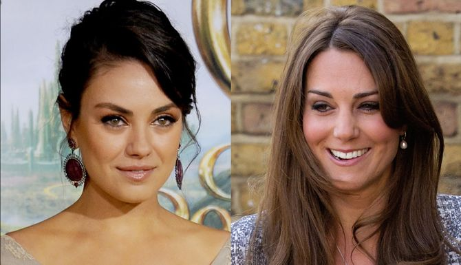 Mila Kunis et Kate Middleton
