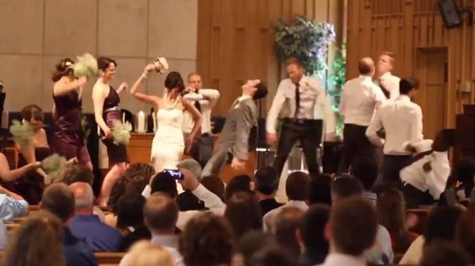 Vidéo buzz : Des mariés dansent le Harlem Shake à l'église !
