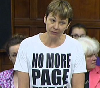 MP Caroline Lucas told to cover up during debate on the No More Page Three Campaign