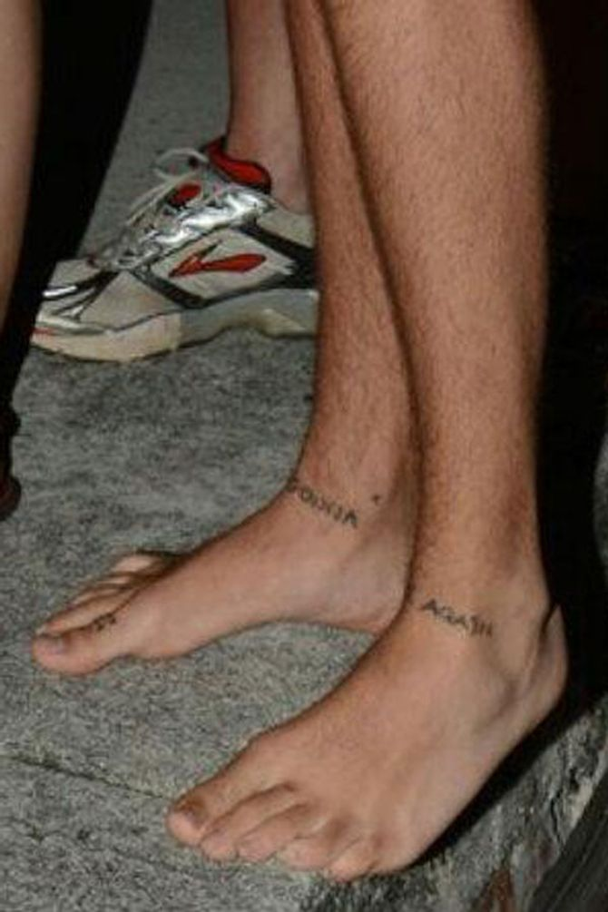Harry Styles new foot tattoo