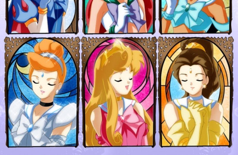 Les princesses Disney relookées façon manga (Photos)