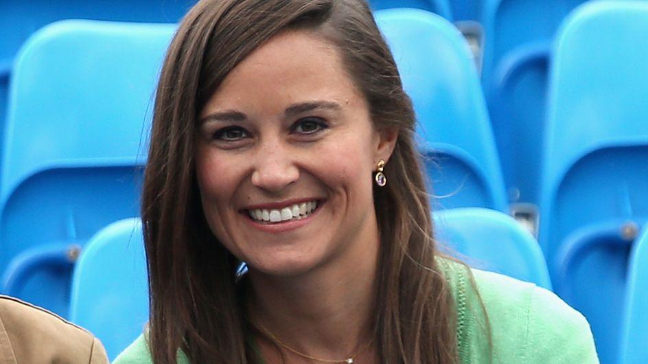 Pippa Middleton : Très chic en vert pour soutenir Andy Murray (Photo)