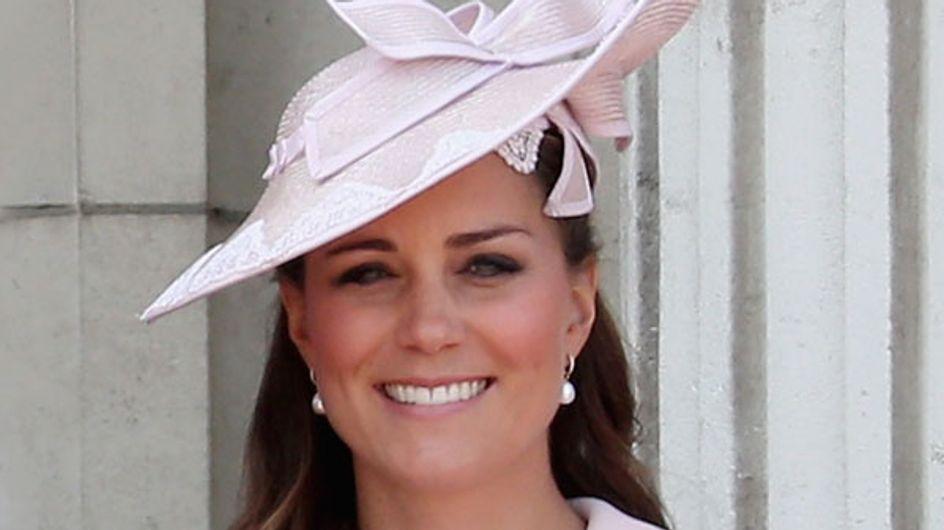 Kate Middleton wears pink Alexander McQueen