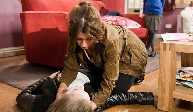 Debbie finds Belle unconscious