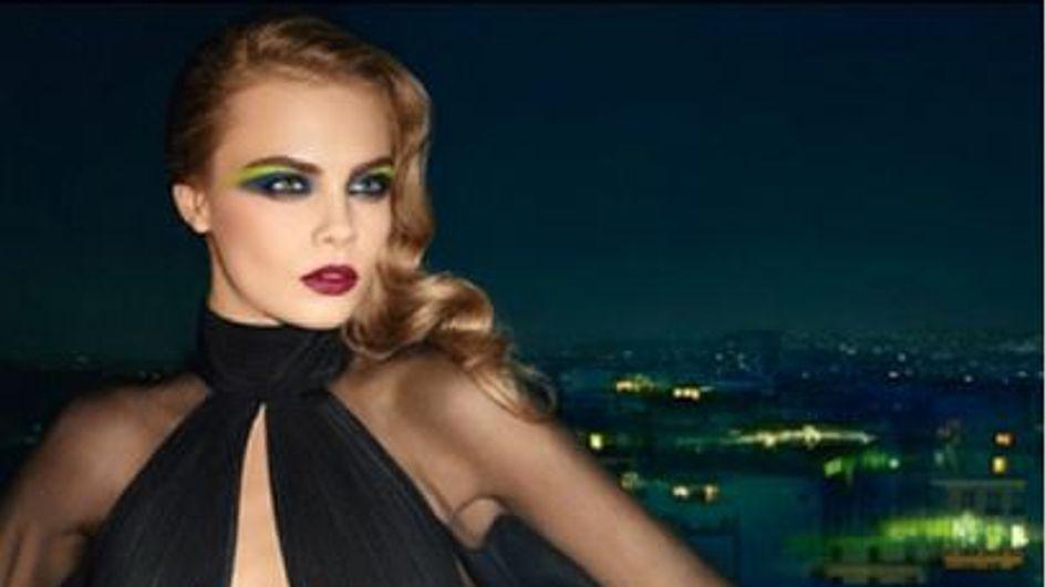 Cara Delevingne : Un maquillage électrique pour Saint-Laurent (Photos)