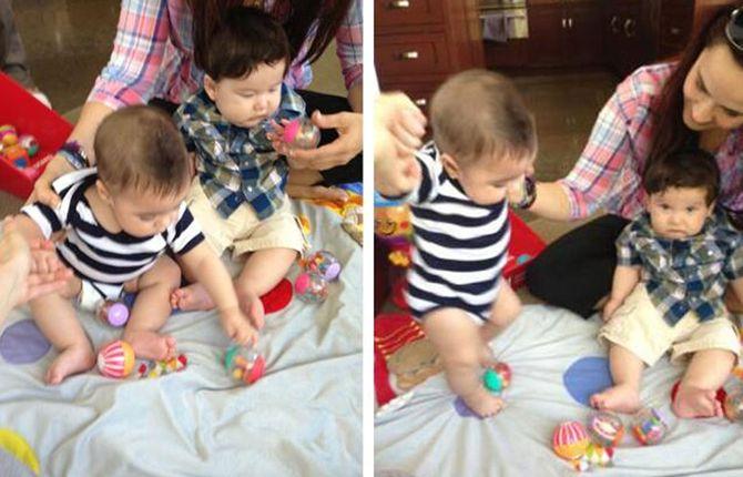 Milan juega junto con otro bebé