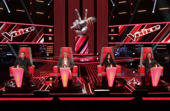 Les 4 coachs de The Voice